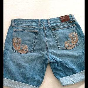 Lucky brand womens 12/31 denim shorts Abbey Bermud